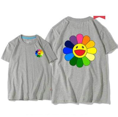 T-shirt tournesol Tee-shirt à manches courtes Takashi Murakami T-shirts Kaikaikiki en tête T-shirt en coton à la couleur pure