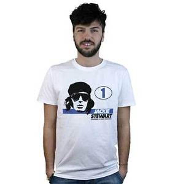 Футболка JaDesignie Stewart, белая футболка, образец изображения Формула 1