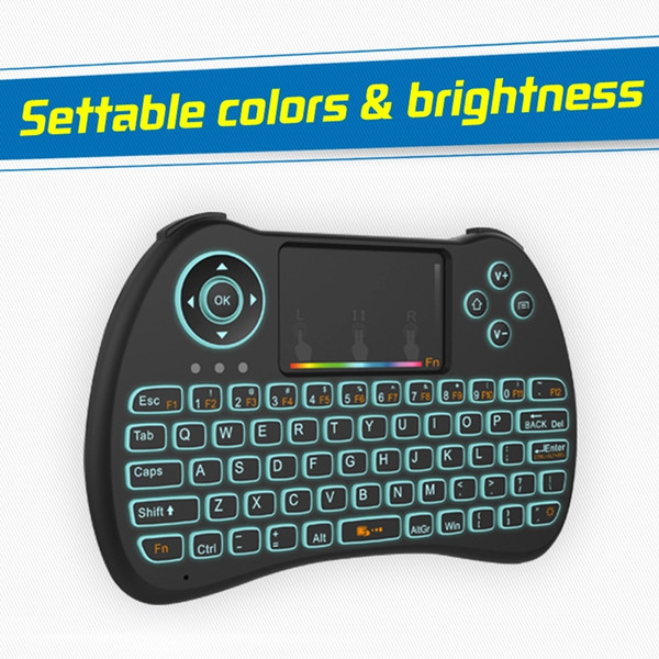 2017 New H9 Mini Keyboard 2.4GHz Mini Wireless Keyboard With LED Backlit lithium-ion battery For Smart TV/ PC/Wiindows
