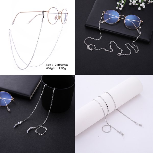 Dropshipping Gold and Silver Plated Link and Ball Chain Sunglass Chain Long Eyeglass Chain Jewelry 5pcs/lot