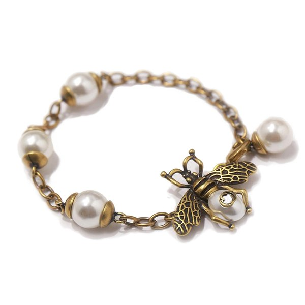 brand newest famous design fashion bee bracelets Invisible magnetic buckle S925 sterling silver Insect ornaments for gift
