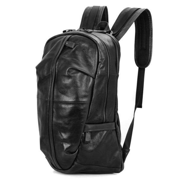 Brand Men School Backpack for Teenager Boy and Girl Fashion Cow Leather Backpack Male Waterproof for Laptop Travel Bag