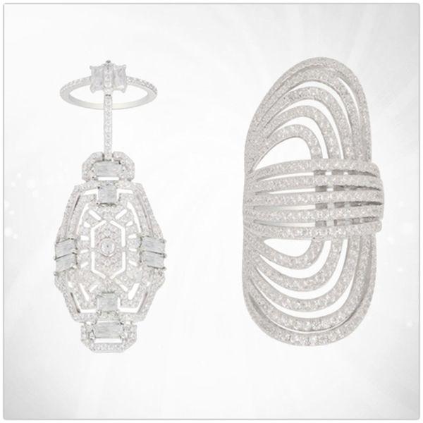 APMM1: 1s925 argent sterling zircon généreux tendance tendance bague sauvage bijoux féminin style européen frais