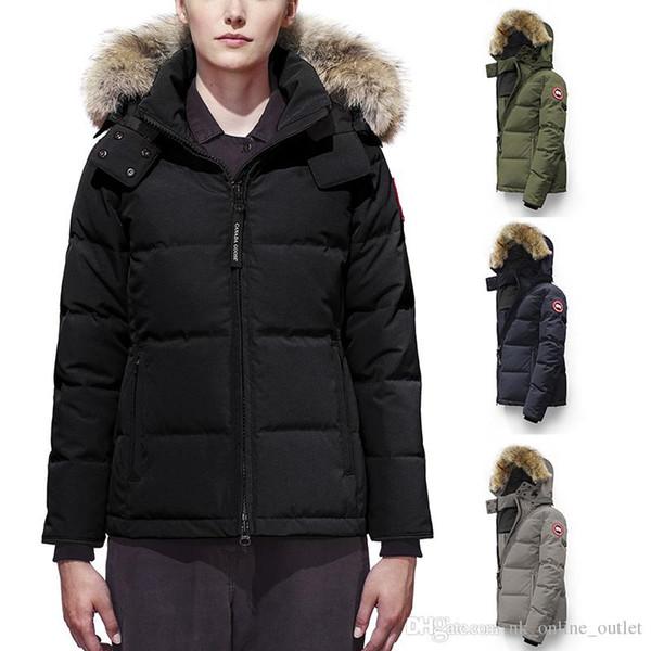 Acheter 2019 2020 Manteau Canada Femmes Goose Chelsea Parka Hiver Capuche Wolf Fourrure De Canard En Duvet De Veste Veste Coupe Vent Cold Jacket DHL