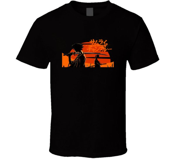 Samurai Champloo Anime T Gömlek Tee Fan Hediye Yeni Gelen Biz Tee Gömlek erkek Yaratıcı Özel Kısa Kollu sevgililer Büyük Boy Aile Tişörtlerin