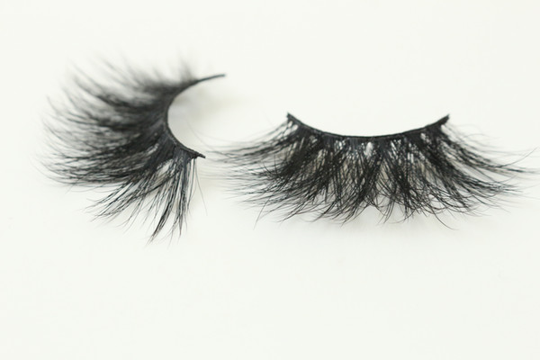 20 Style 5D Mink Eyelashes Handmade 25MM Full Strip Eyelash Thick Mink False Lashes With Sparkly Rectangle Boxes