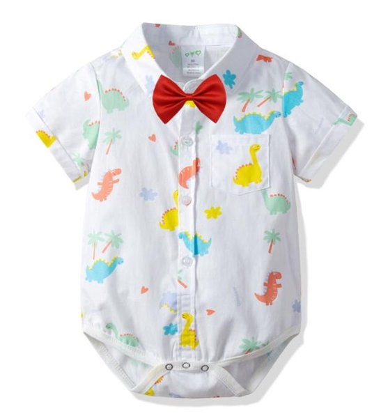 2019 Baby Short Sleeve Hat Suit for Summer Neonates Dinosaur Cartoon Baby Clothes for Babies suit Best-selling new models