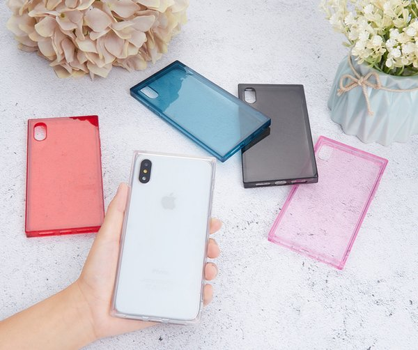 Cheapest! Ultra thin Clear Transparent TPU Silicone Square Case For iPhone XS MAX XR 8 6 7 6S Plus Protect Rubber Phone Case