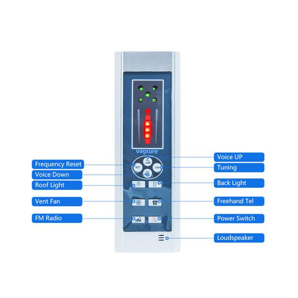 1set (Contrôleur + Transformateur + Ventilateur + Haut-Parleur + Lumière) AC 12V Kit de commande de radio de douche pour accessoires de panneau de douche Rectangle