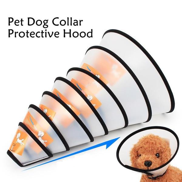 Collare dell'animale domestico regolabile Cane Cat E-Collar Protezione Cono, Pet Wound Healing Testa conica animale chirurgia medica recupero collo collo DH0317