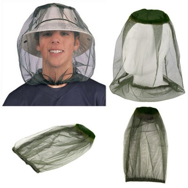 Outdoor Wandern Moskitonetz Kappe Camping Reise Set Kopf Insektensichere Kappen Schwärzlich Grün Einfache Mode Angeln Hut LJJZ411