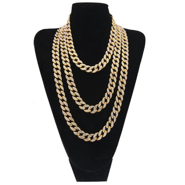 Женские гламурные модные ожерелья Nn09 сплав мозаика Алмаз кубинская цепь несколько спецификаций великолепная Бесплатная доставка ожерелья