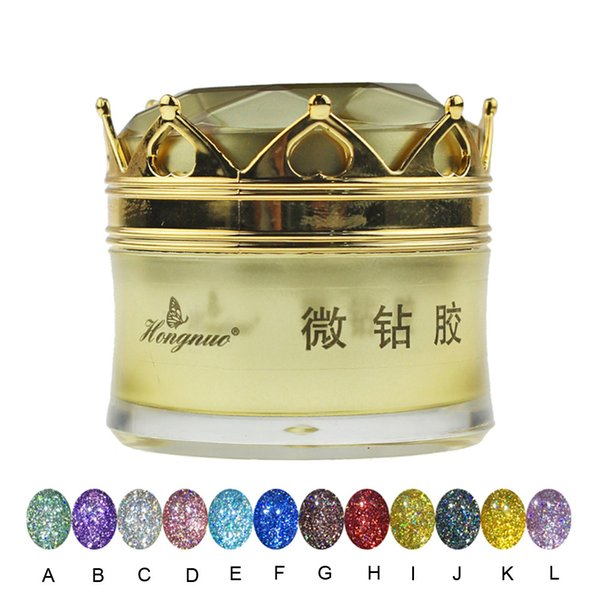 Diamond Nail Glue Set Phototherapy Glue UV Soak Off Sequins Diamond Nail earings fashion jewelry with pearl bain black #5