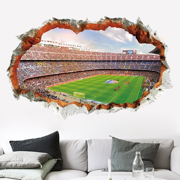 Wall Stickers Home Wall Decor Football Field Sticker for Kids Room Bedroom Decoration Soccer Poster Mural Wallpaper Wall Decals