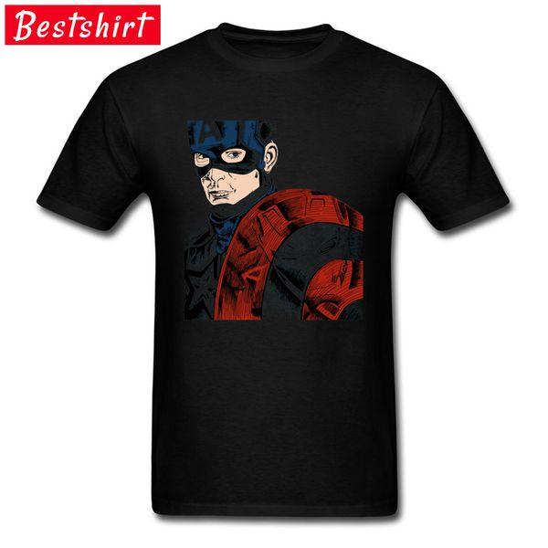 T-Shirt Captain America PK Iron Man Anti-Hero Comic Avengers Civil War Spiderman Steve Rogers Maglietta per uomo Cool