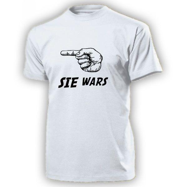 2018 Nova Moda Camiseta Sie War's nach rechts Schuldiger Pessoa Mann Dedo Humor Do Divertimento-T Shirt Verão T-shirt