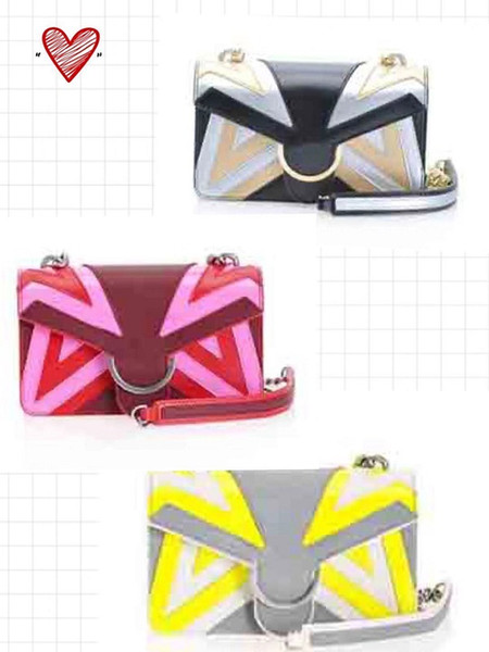 2019 nouveau double serrure Swallow or chaîne couture métal Appliqué créateur de mode de luxe sac à main colonne Swallow oiseau sac à bandoulière hangbags