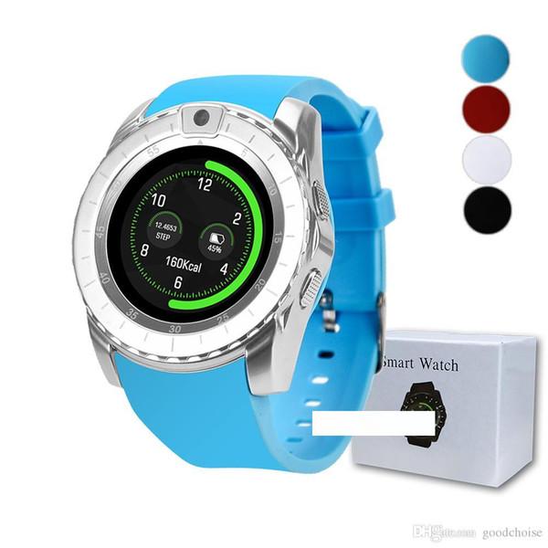 V88 Смарт Часы Bluetooth 1.3inch Фитнес Tracker поддержка камеры SIM-карты сообщение вызовов Напоминание SmartWatch V8 Смарт часы Модернизированная