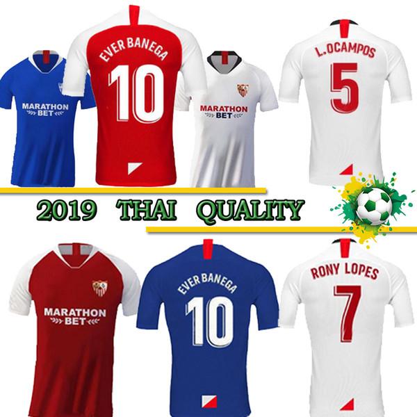 Thai 2019 2020 evilla occer jer ey 19 20 home away third ever banega ben yedder gei j nava yedder correa muriel football uniform hirt, Black;yellow