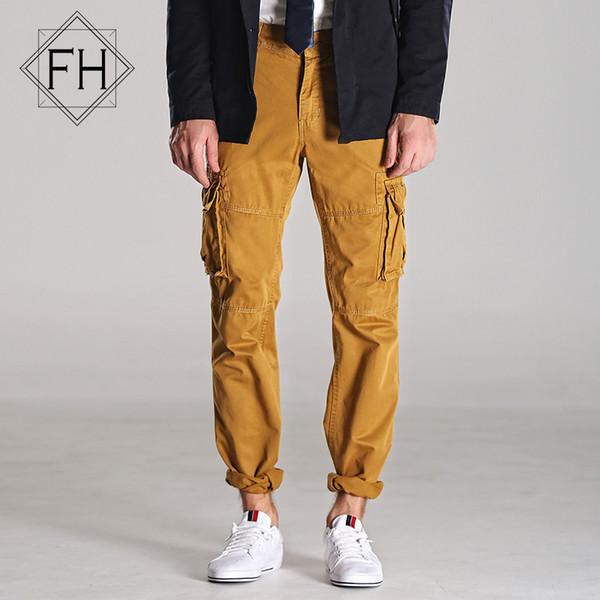 Großhandel-Fuhao Men Cargo Pants Marke mit Taschen Sporthose Mann Hip Hop Dance Pantalones Ganzkörperansicht Harem Hose Boys 3225C