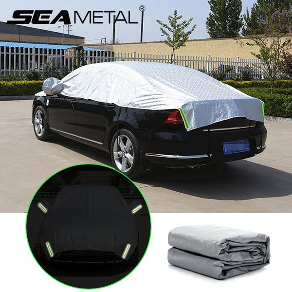 Waterproof Car Cover >> Car Covers Reflective Strip Warning Auto Waterproof Sun Proof Shade Outdoor Cars Cover Dust Rain Protection Covers Car Styling Best Waterproof Car