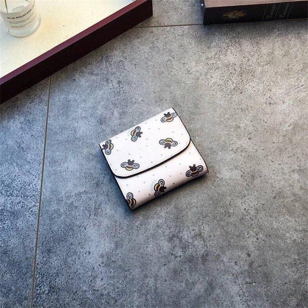 2019 hot sale brand designer short wallet High Quality Leather luxury short Wallets for women Men Coin purse Card holder B100523W