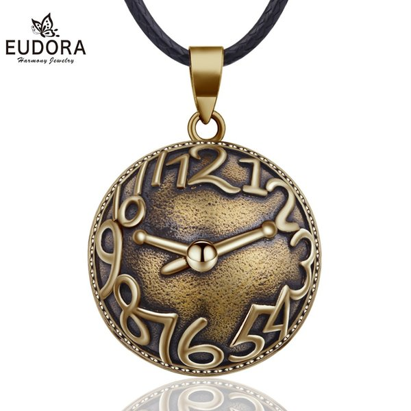 wholesale 20mm Vintage Mexican Bola Harmony Chime Ball Angel Caller Pregnancy Pendant Necklace for Women Fashion Jewelry N14NB319