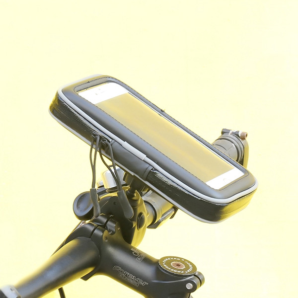 Bike Handlebar Bag Waterproof Cell Phone Pouch Bicycle Motorcycle Phone Mount Holder for Smartphone up to 6.3 Inch