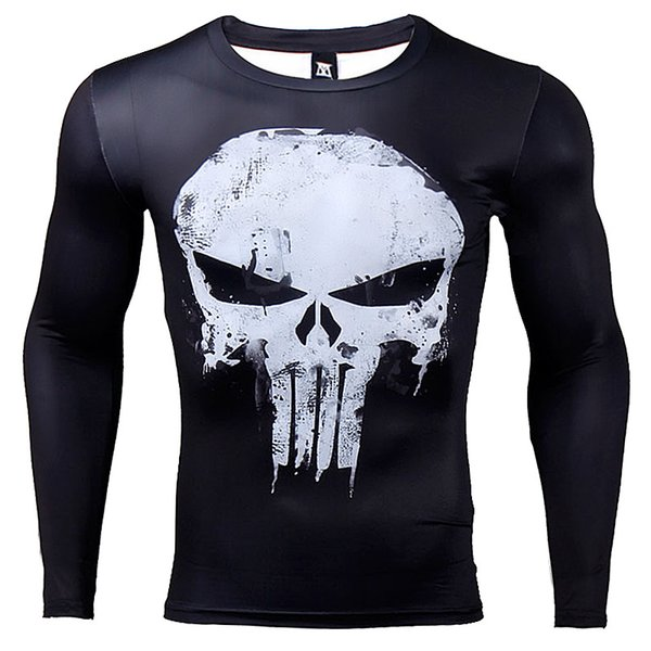 3d Baskılı T Gömlek Erkekler Sıkıştırma Gömlek Uzun Kollu Cosplay Kostüm Crossfit Spor Giyim Erkek Siyah Cuma Tops