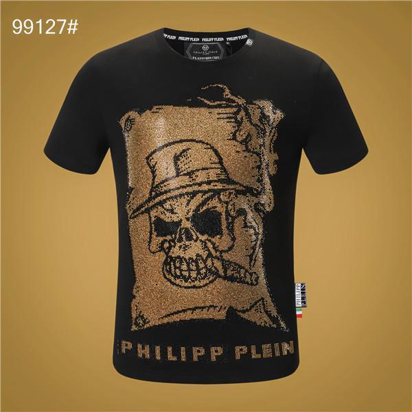 nuovi uomini maglietta maniche corte in cotone Skulls Stampe maglietta girocollo Slim Moda Uomo manica lunga Pullover Skateboarding supera 100% cotton GG2020
