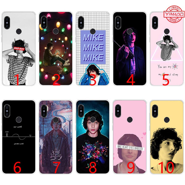 Protection Telephone Portable Coque En Tpu Silicone Souple Finn Wolfhard Stranger Things Pour Xiaomi Mi A1 5x6 6x8 Se Mix 2s A2 Lite Couverture