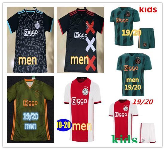 19 20 maillot ajax soccer jersey tracksuit DE JONG DE LIGT msterdam camiseta fútbol VAN DE BEEK NERES kids kits camisa TADIC ZIYECH maillot