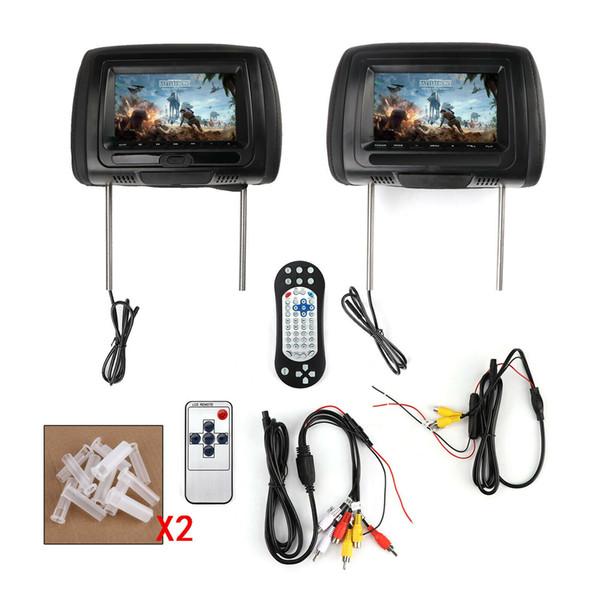 2x HD Araba DVD Dijital Kafalık Monitör USB TV IR SD Video HDMI Oyun DVD Oynatıcı