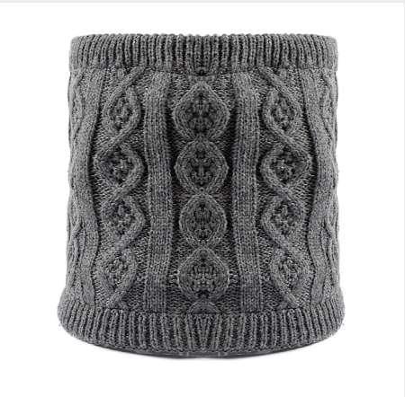 Winter warm warme gestrickte Ring Schals dickes Fleece innen super elastische Strick Schalldämpfer Männer Frauen Kinder Halswärmer