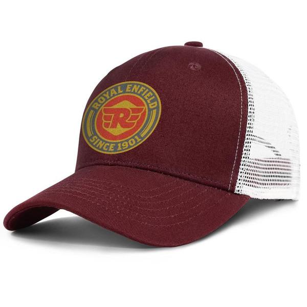 Womens Mens Plain Regolabile Royal Enfield Moto logo Punk Hip-Hop Cappello da baseball in cotone Golf Flat Top Hat Airy Cappelli a rete per uomo Donna