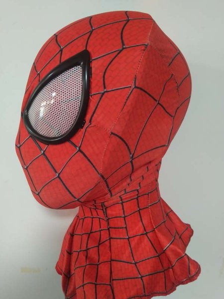 Amazing SpiderMan faceshell with lens lenses&Fabric spiderman mask Adult Costume Mask cosplay one size for amaizing spiderman 2 costume