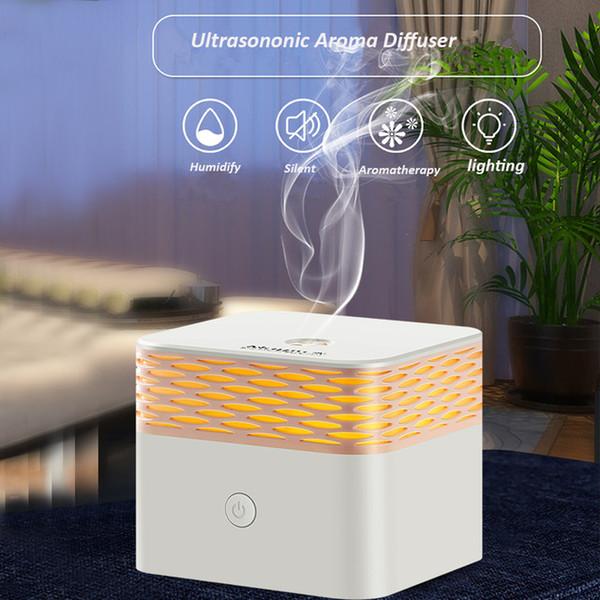 120ml USB Aroma Essential Oil Fragrance Diffusor Humidificateur d'air DC 5V Ultrasonique Romantique Lumière Chaude Aromathérapie pour voiture de bureau à domicile