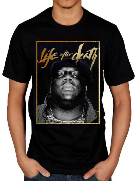 Camiseta oficial Biggie Smalls Life Gold Una oportunidad más Notorious Thugs Juicy Men Women Unisex camiseta de moda Envío gratis negro