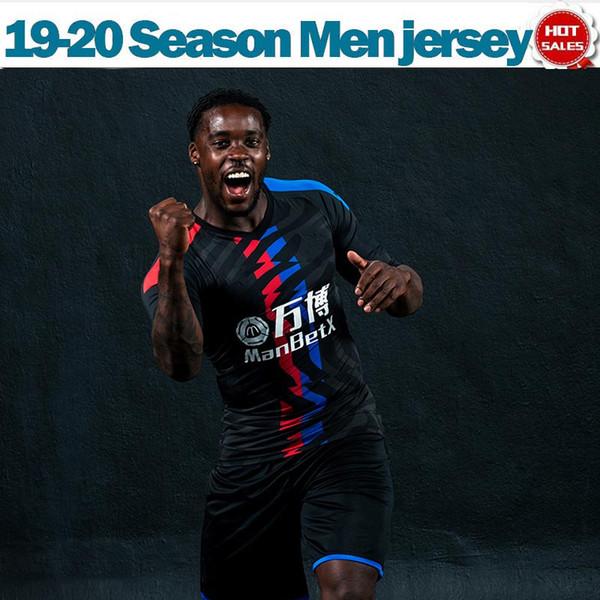 Футболка 2020 Crystal Black Jersey # 11 ZAHA # 21 WICKHAM 19/20 Футболки Palace с коротким рукавом Мужская футбольная форма в продаже