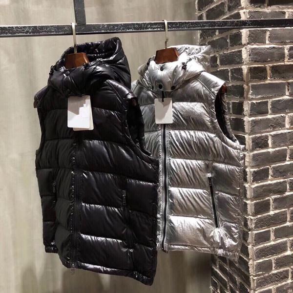 Klasik marka Erkekler kış aşağı yelek tüy weskit ceketler erkek casual yelek ceket dış giyim adam ceket