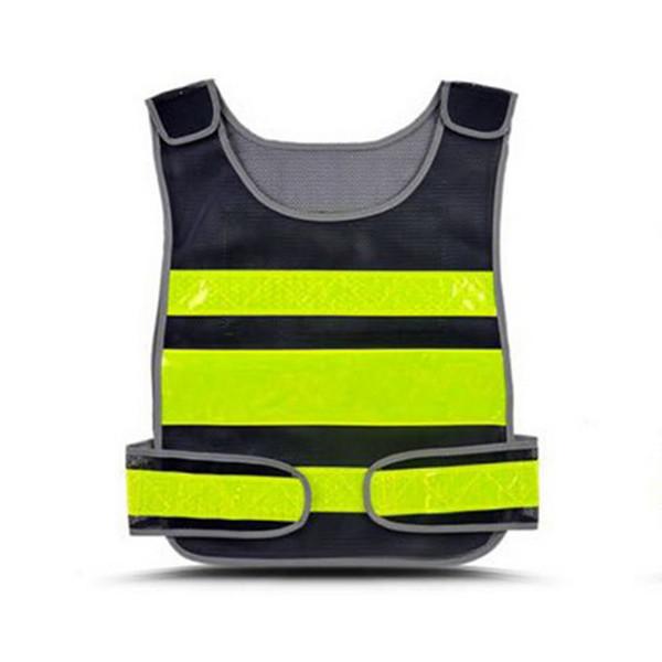 MoneRffi Gilet riflettente ad alta visibilità Abbigliamento da lavoro da strada Ciclismo protettivo Canottiere protettivo Abbigliamento da lavoro all'aperto