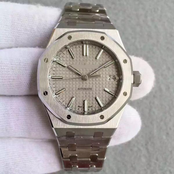 Luxury men's watch 15400 high-grade sapphire crystal 37mm 3120 movement automatic mechanical fine steel gold plated folding buckle luxury wa