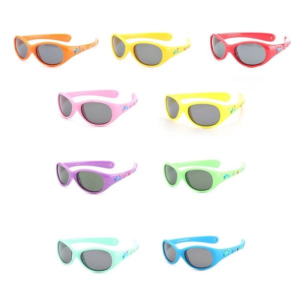 Flexible little Baby Sunglasses boys small size Polarized lenses mirror children sunglasses child 1-3 YEARS