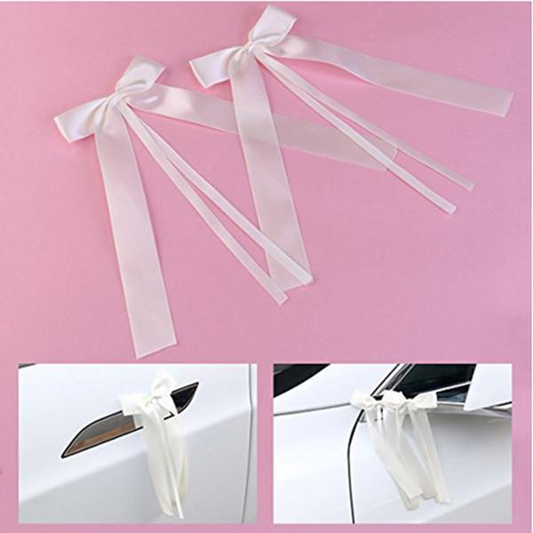 50pcs/pack Delicate Wedding Pew End decoration Bowknots Ribbon Bows Party Cars Chairs Decoration Bowknots