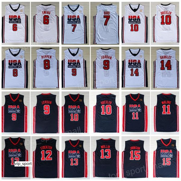 promo code 6825b 75148 1992 Team US Basketball Jerseys Dream One Larry Bird Michael ...