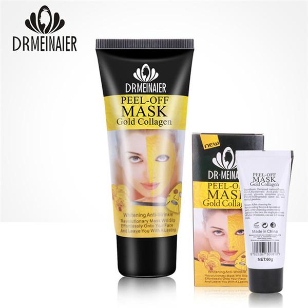 Peel Off Facial Mask Black Crystal Gold Collagen Milk Blackhead Remover Face Mask 60g Skin Care 50pcs