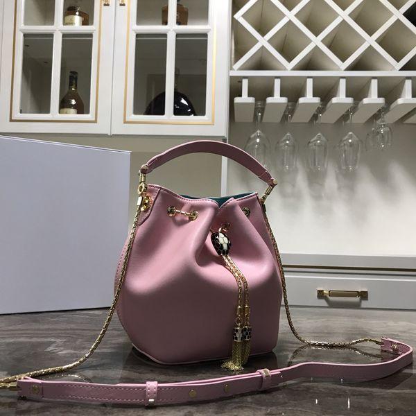 En 2020, bolso de cuero de las mujeres de mayor venta, bolso de mano, bolso, moda y generosa, modelo de entrega libre: 287614 Tamaño: 20 CM