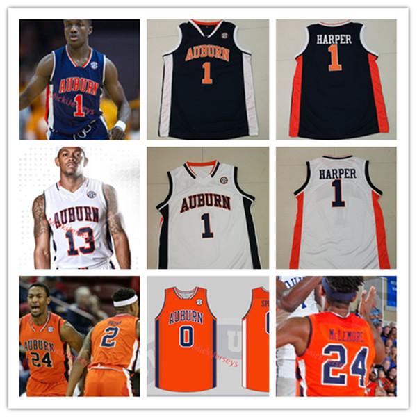 2019 Mens Custom Ncaa Auburn Tigers Basketball Jersey Jared Harper Bryce Brown Horace Spencer Preston Cook Austin Wiley Auburn Tigers Jersey From