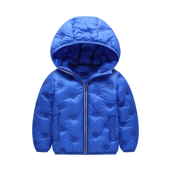 top popular Baby Boys Down Coat Kids Solid Hooded Long Sleeve Cotton Jackets Kids Casual Clothes Girls Winter Warm Outerwear Toddler Baby Snow Coat 06 2021