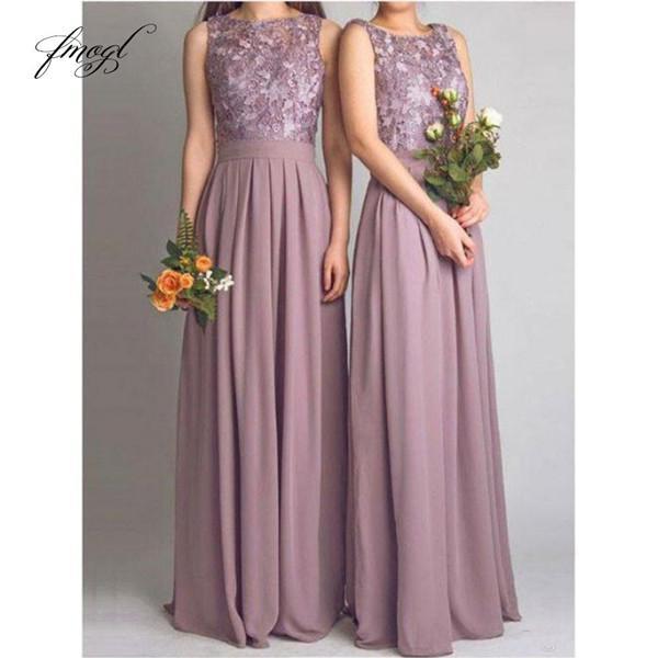 2019 vestidos de honor Una playa vestido de novia vestidos de clientes sin respaldo piso Line joya longitud de encaje Dama de honor Vestidos